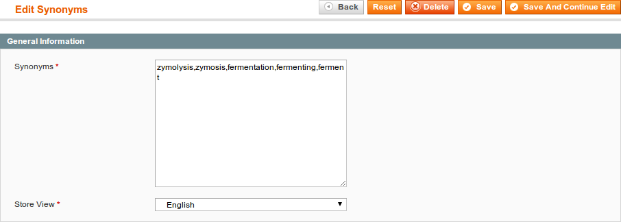 Manage Synonyms - Sphinx Search Ultimate documentation