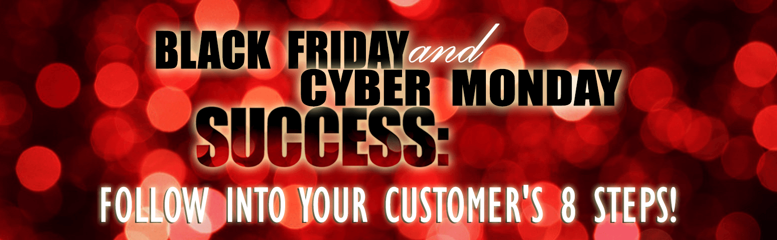 Black Friday and Сyber Monday success: follow into your customer's 8 steps!