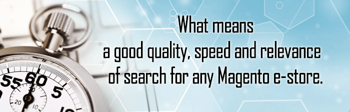 What means a good quality, speed and relevance of search for any Magento e-store