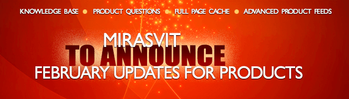 Mirasvit to announce February updates for products