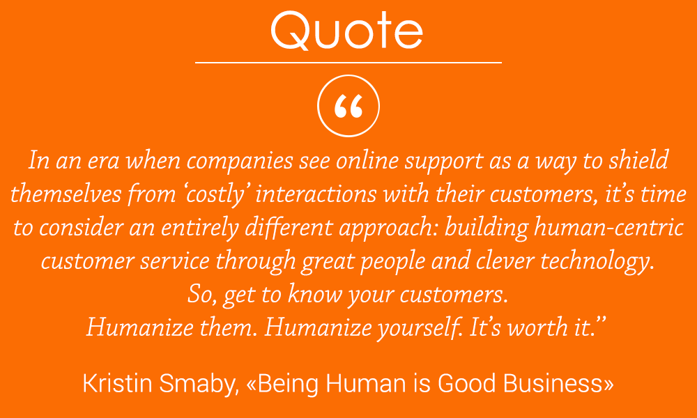 Humanize your business