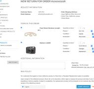 Customer RMA - New