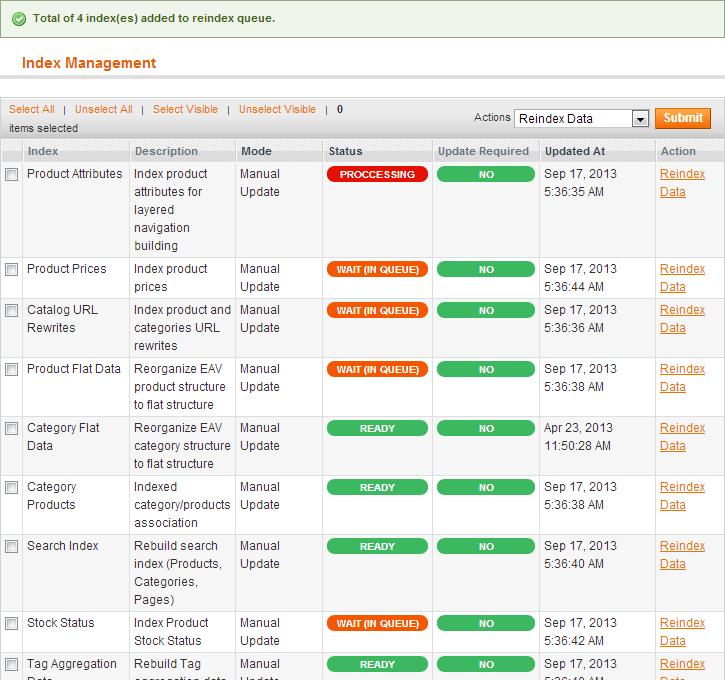 System / Index Management