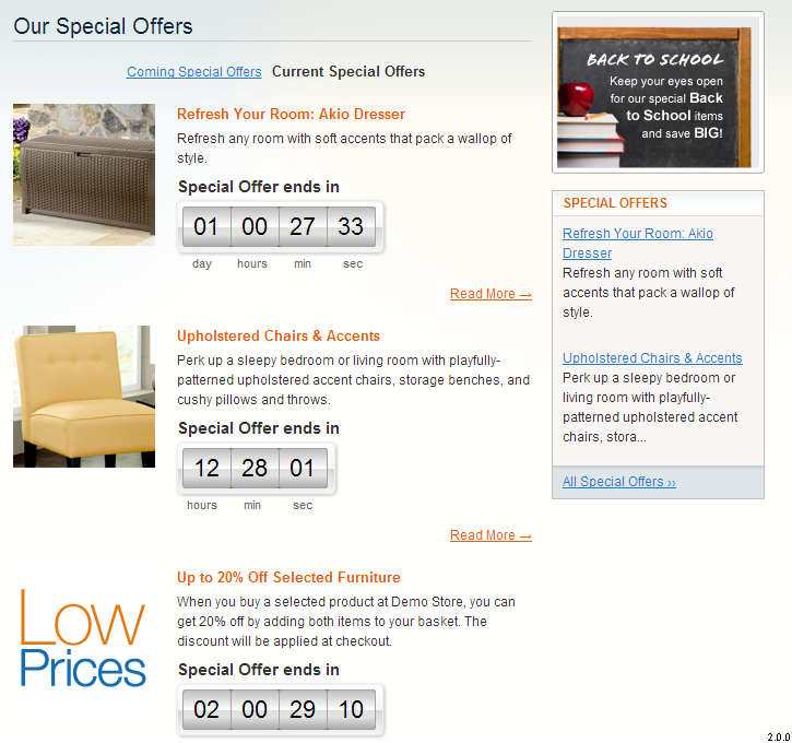 Special Offers List