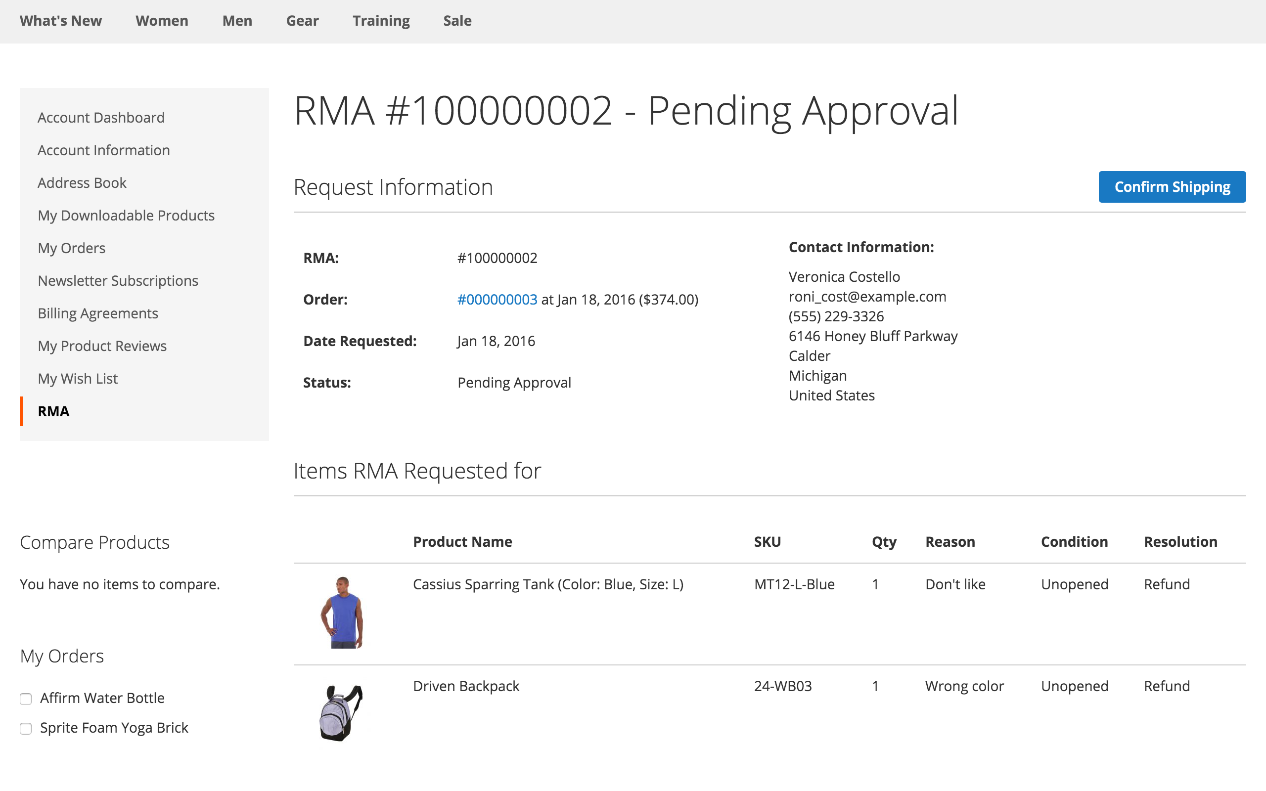 magento 2 shipping label for rma