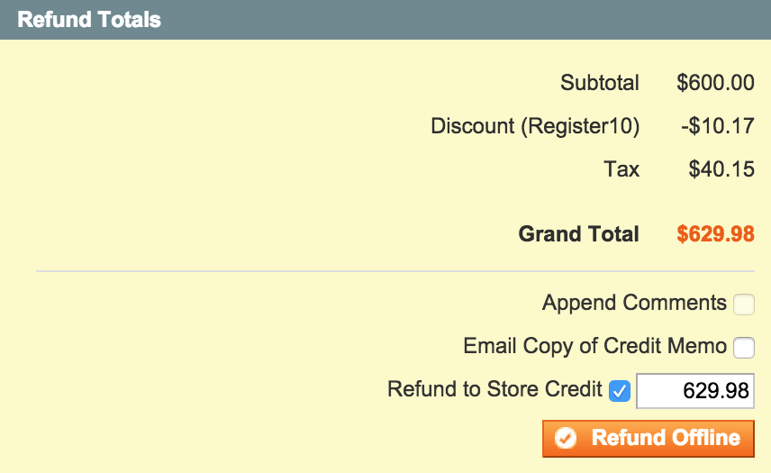 Refund To Store Credit
