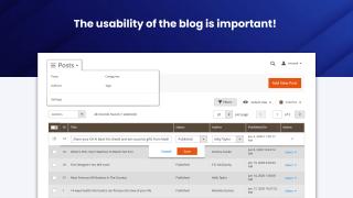 Blog usability