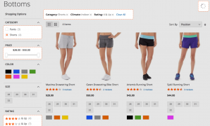 Advanced layered navigation for Magento 2. Left side filters