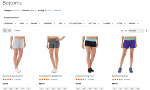 Layered navigation Magento 2 extension. Top filters