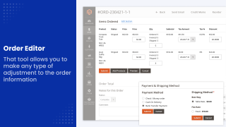Order Inline Editor