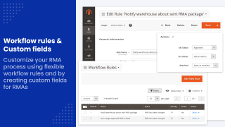 RMA Workflow rules and Custom fields