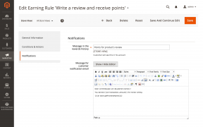 Customizing a notification message for an earning rule in Mirasvit Magento 2 Loyalty Program extension