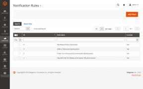 A list of notification rules in Mirasvit Magento Customer Reward Points module