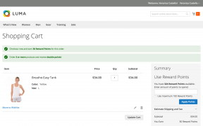 Mirasvit Magento Rewards Points system's notification on the cart page