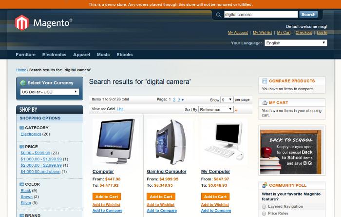 magento search module