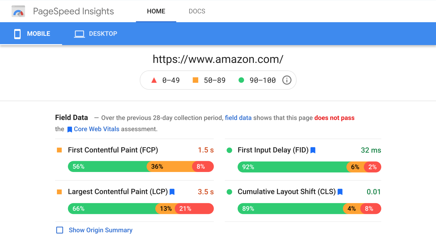 amazon-core-web-vitals-fail-mobile