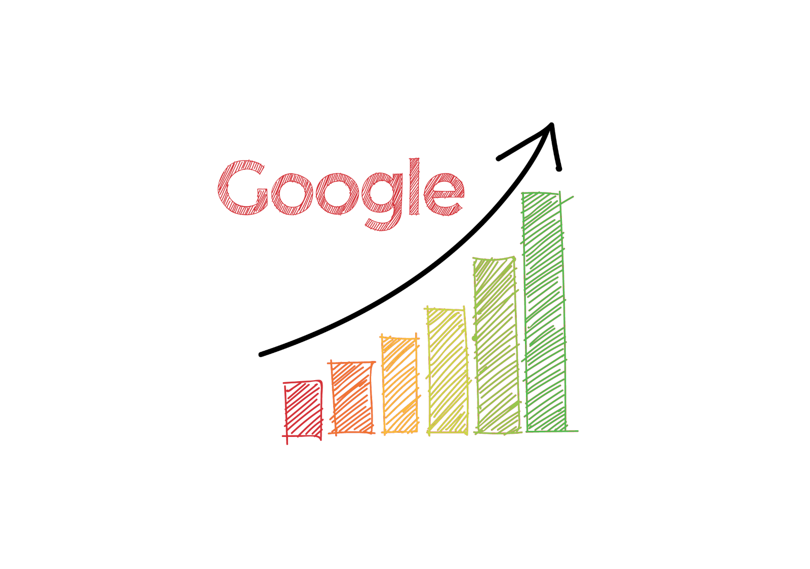 An illustration of Google rank increase