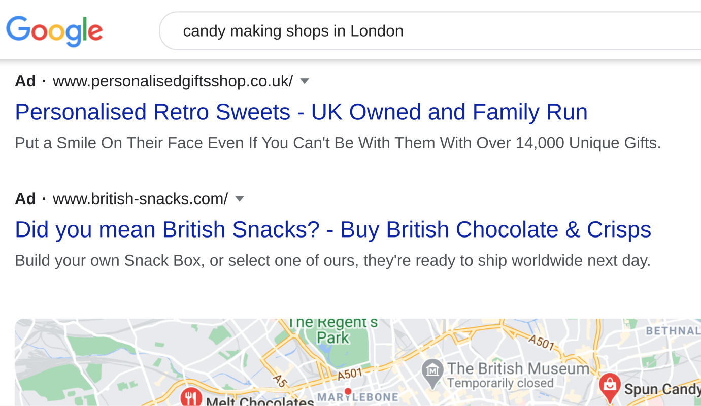 search query example