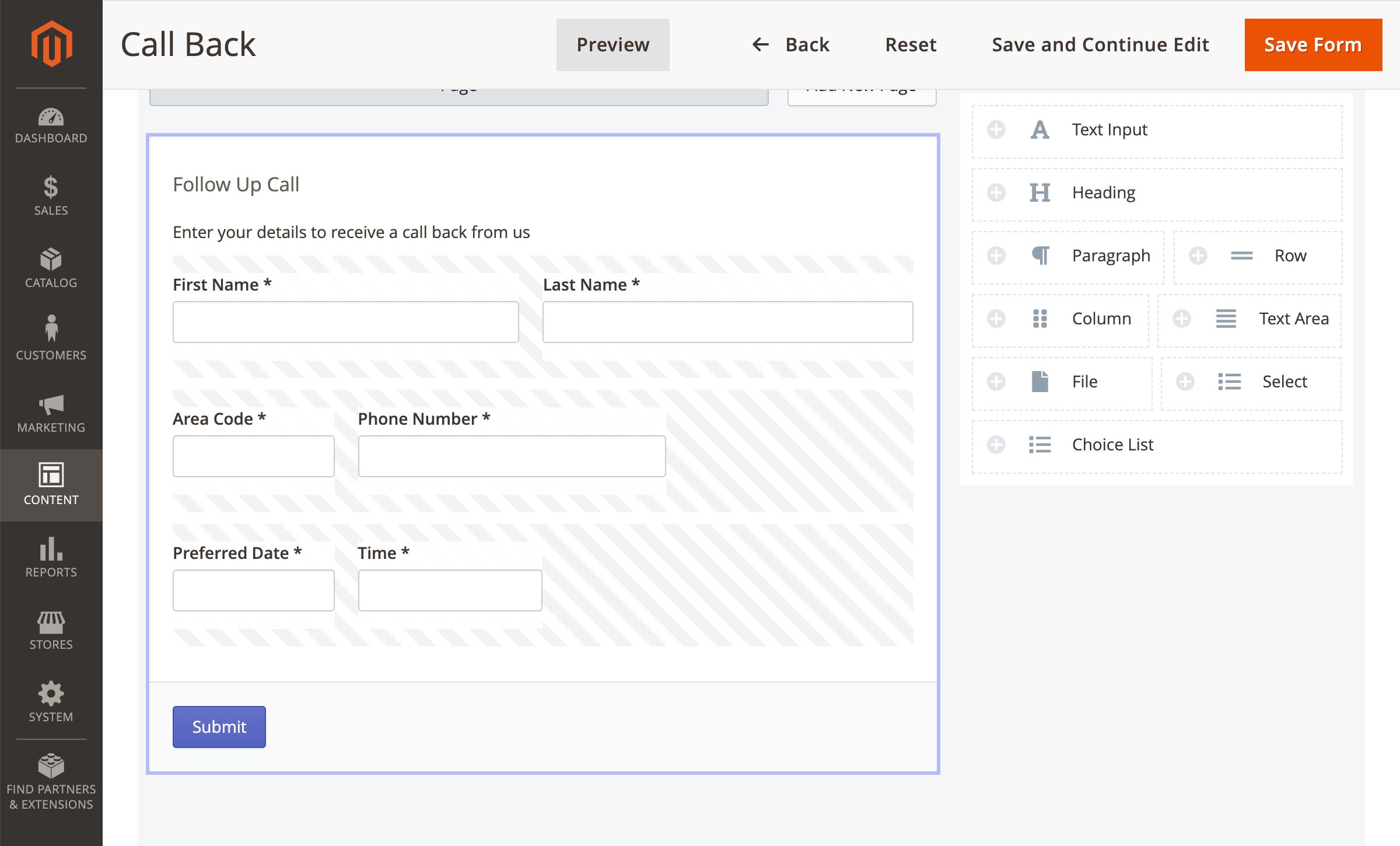 Form Builder Editor