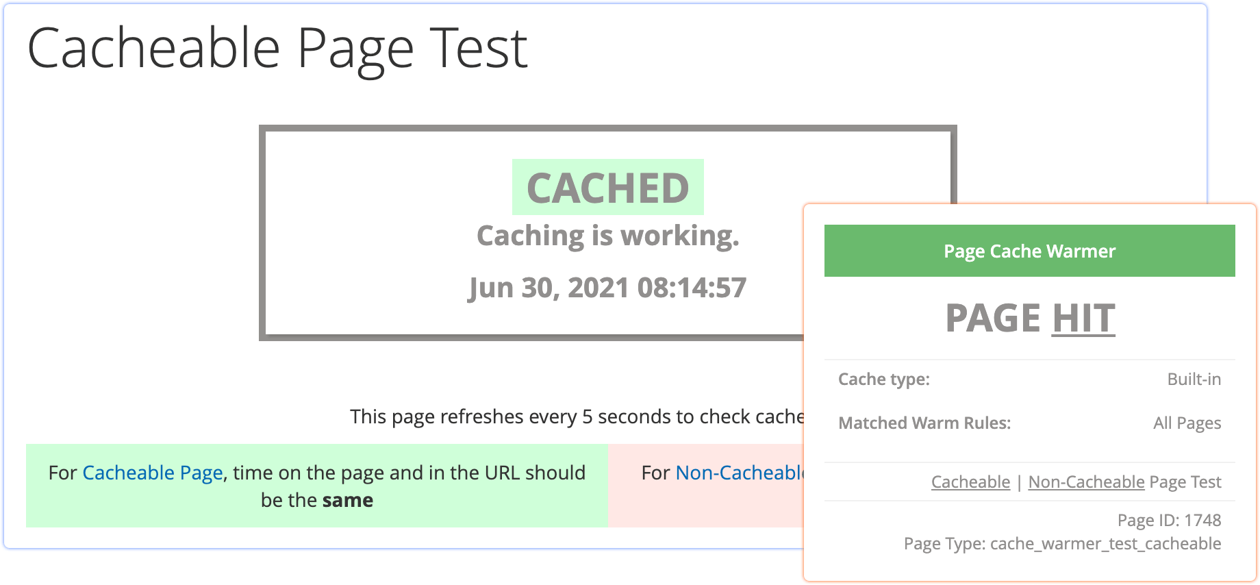 cache warmer performance