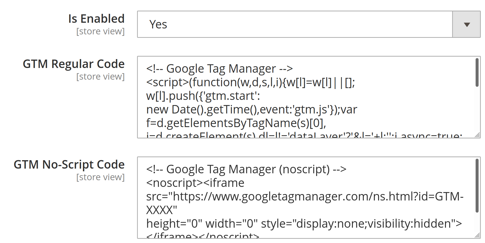 google tag manager ecommerce magento