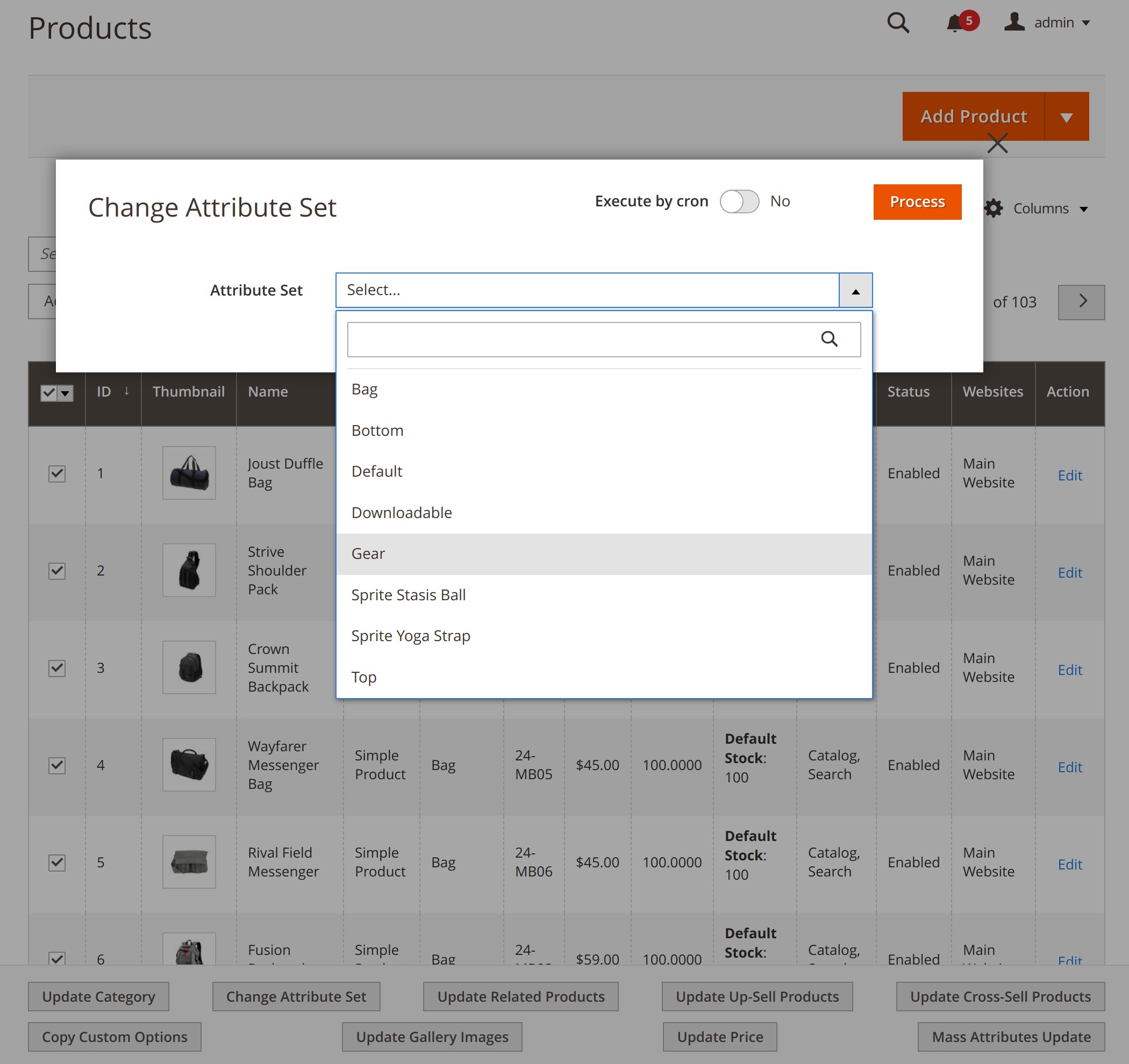 Updating product attribute sets with Mirasvit Magento 2 Mass Update Attribute module