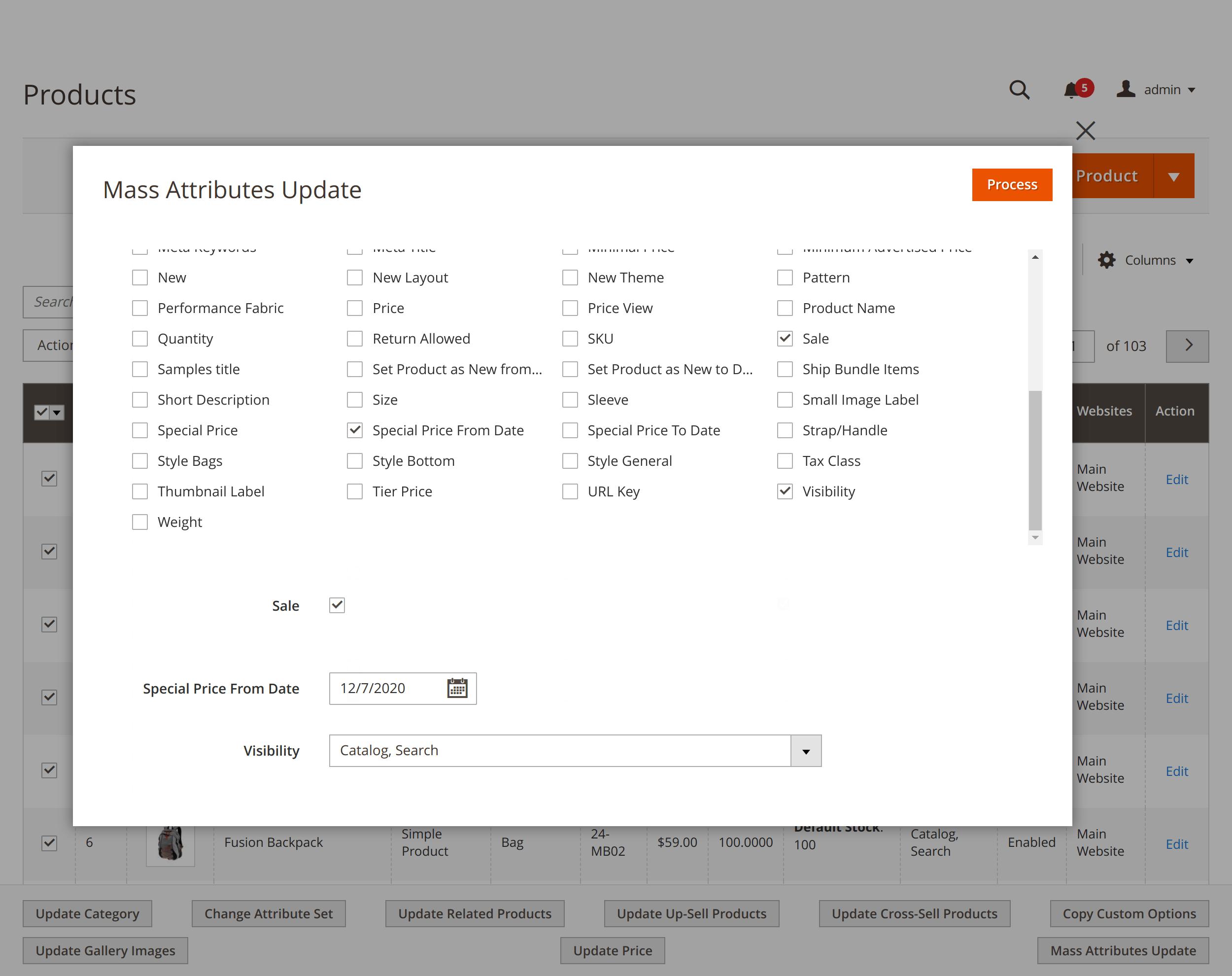 Updating invidivual product attributes with Mirasvit Magento 2 Mass Update Attribute module