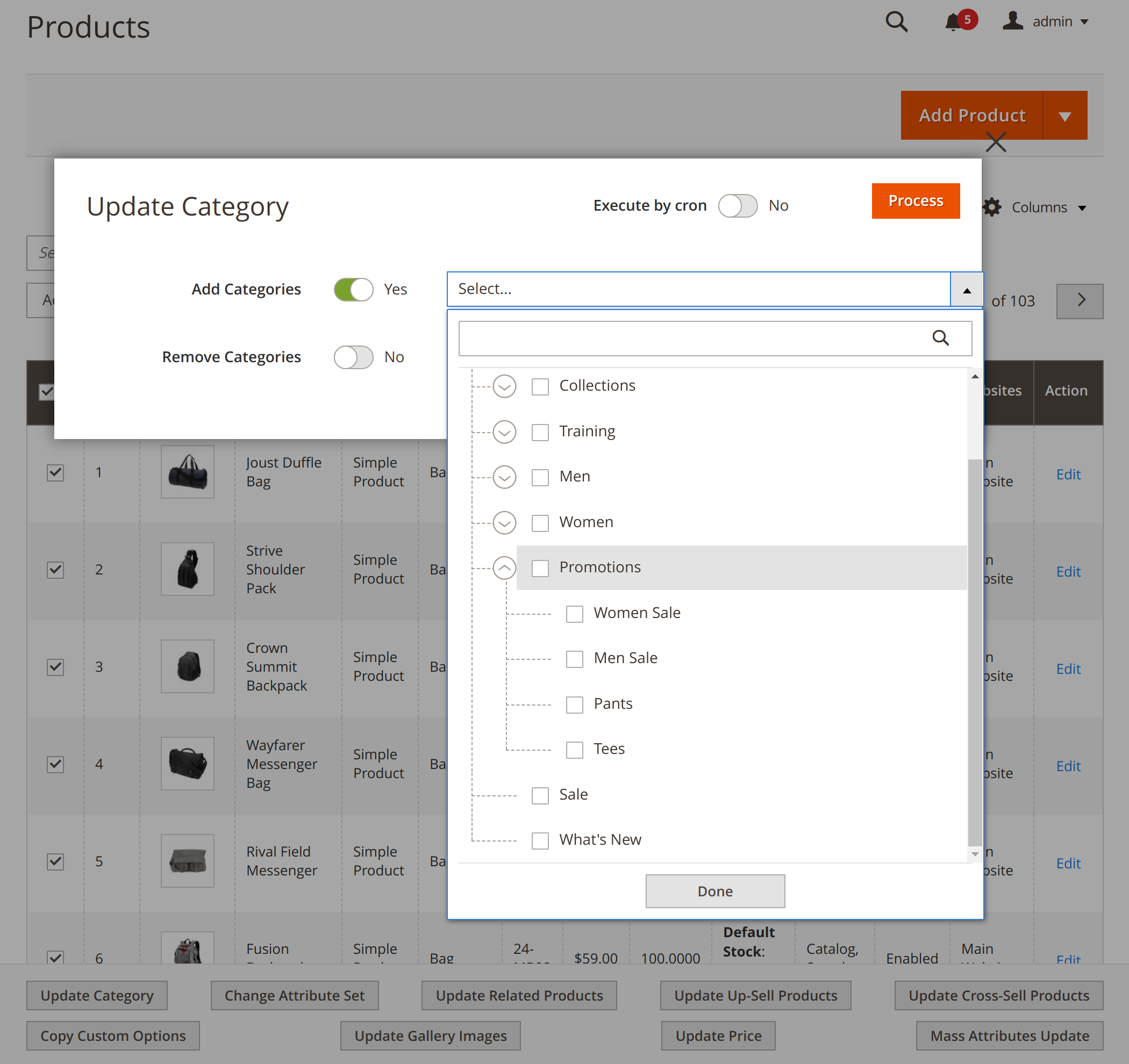Updating product galleries with Mirasvit MAgento 2 Mass Product Update extension