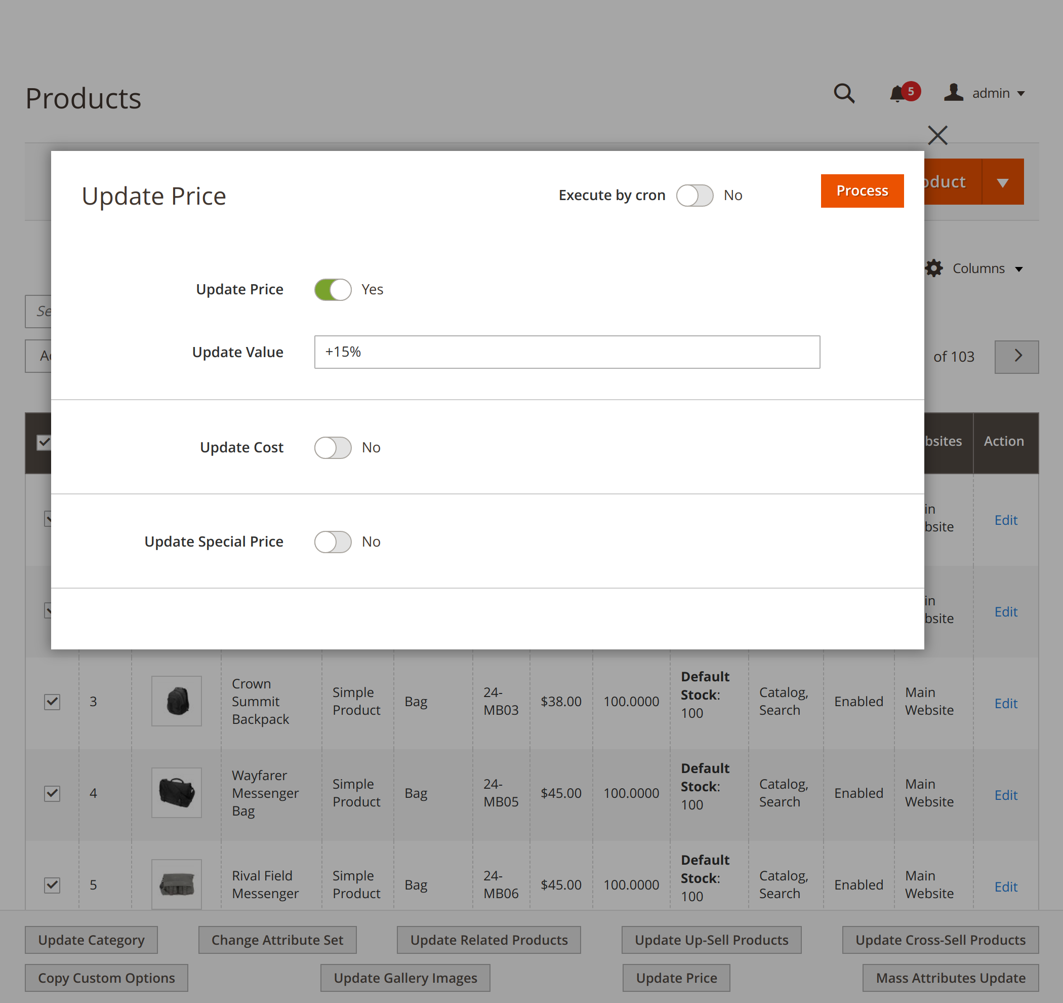 Updating product price with Mirasvit Magento 2 Mass Product Action module
