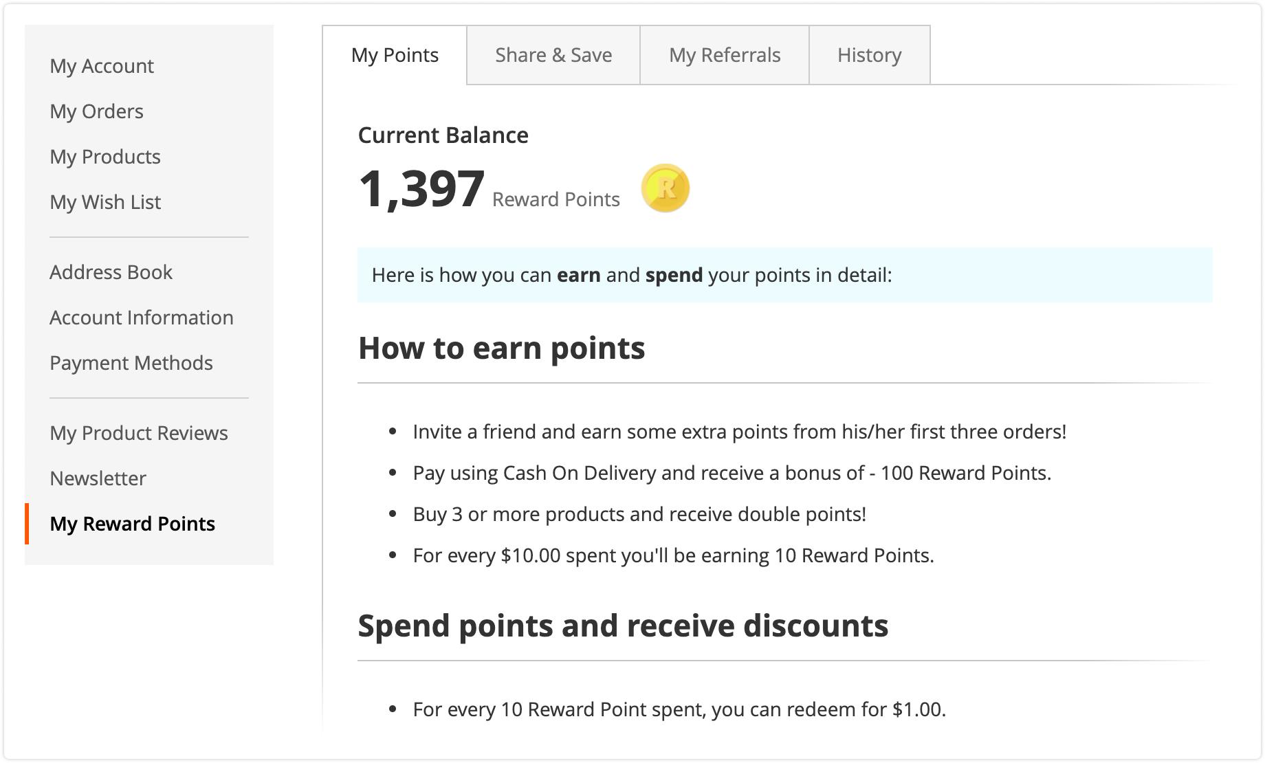 Notification rules in Mirasvit Reward Points for Magento 2.