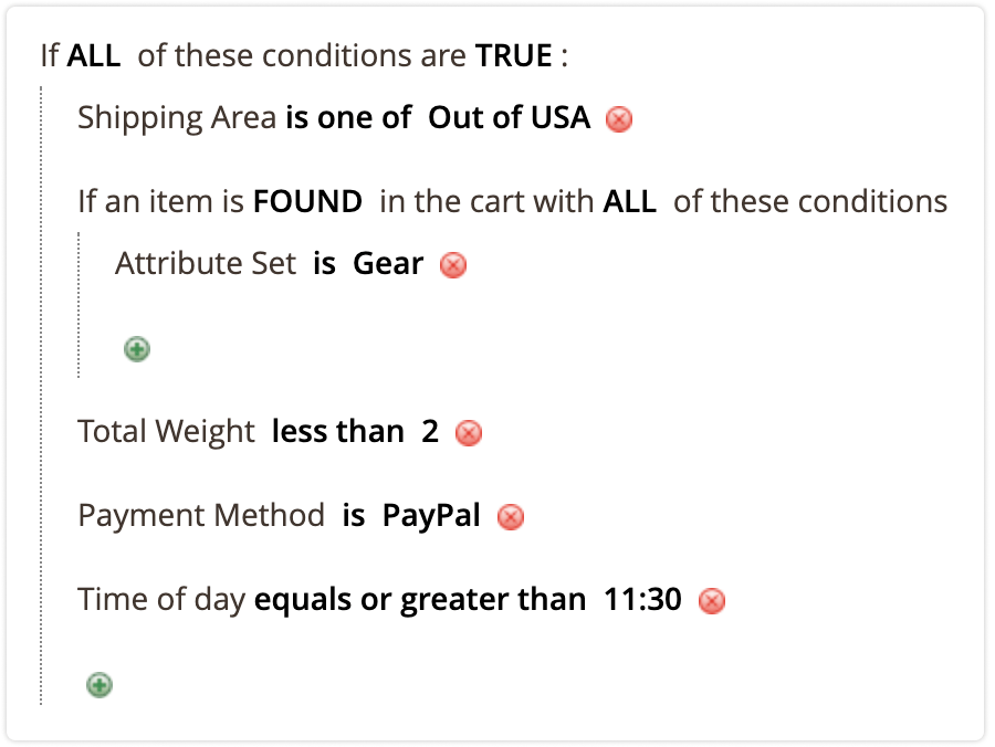 apply rule attribute combination