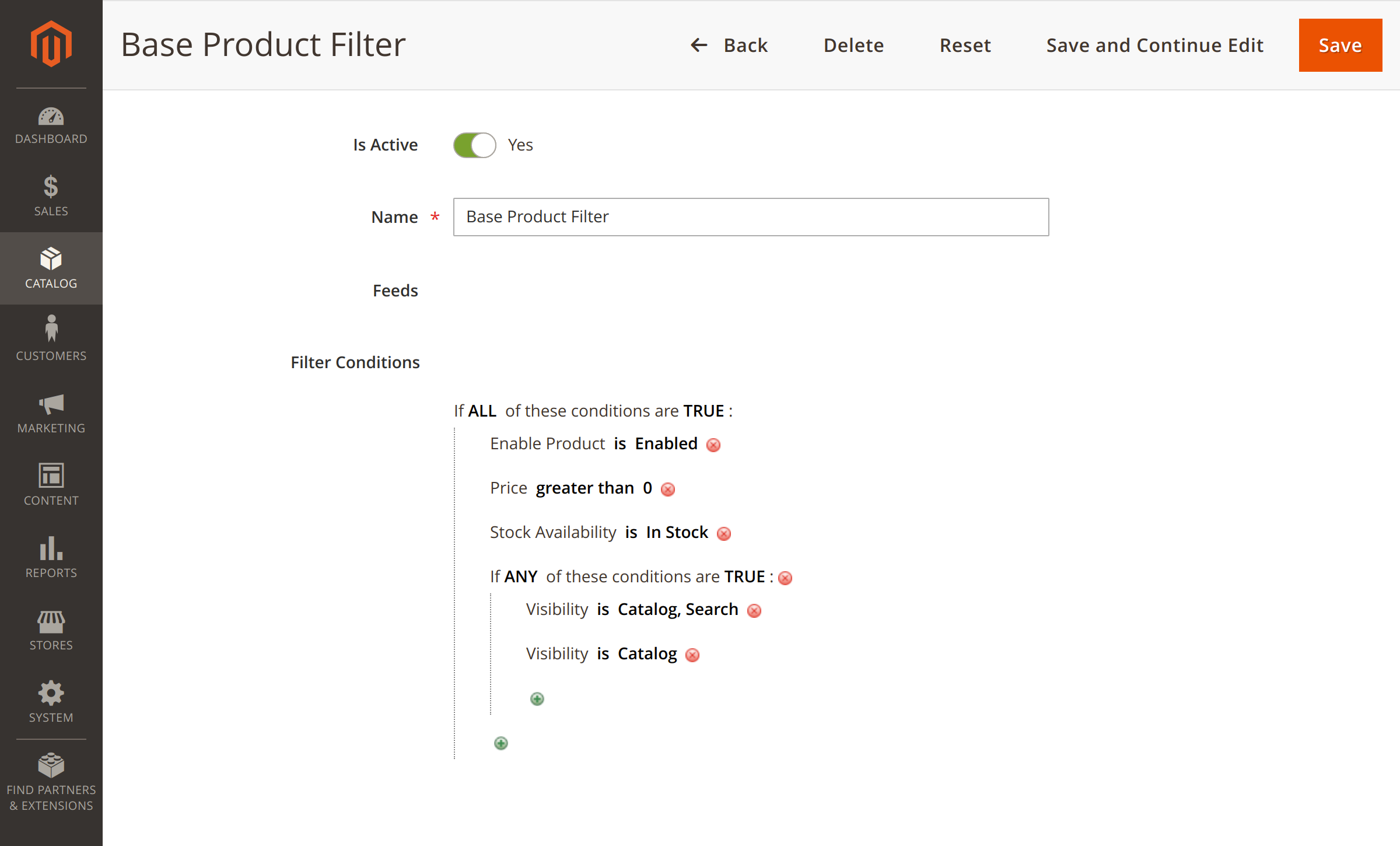 Product filter customization in Magento 2 Facebook Feed