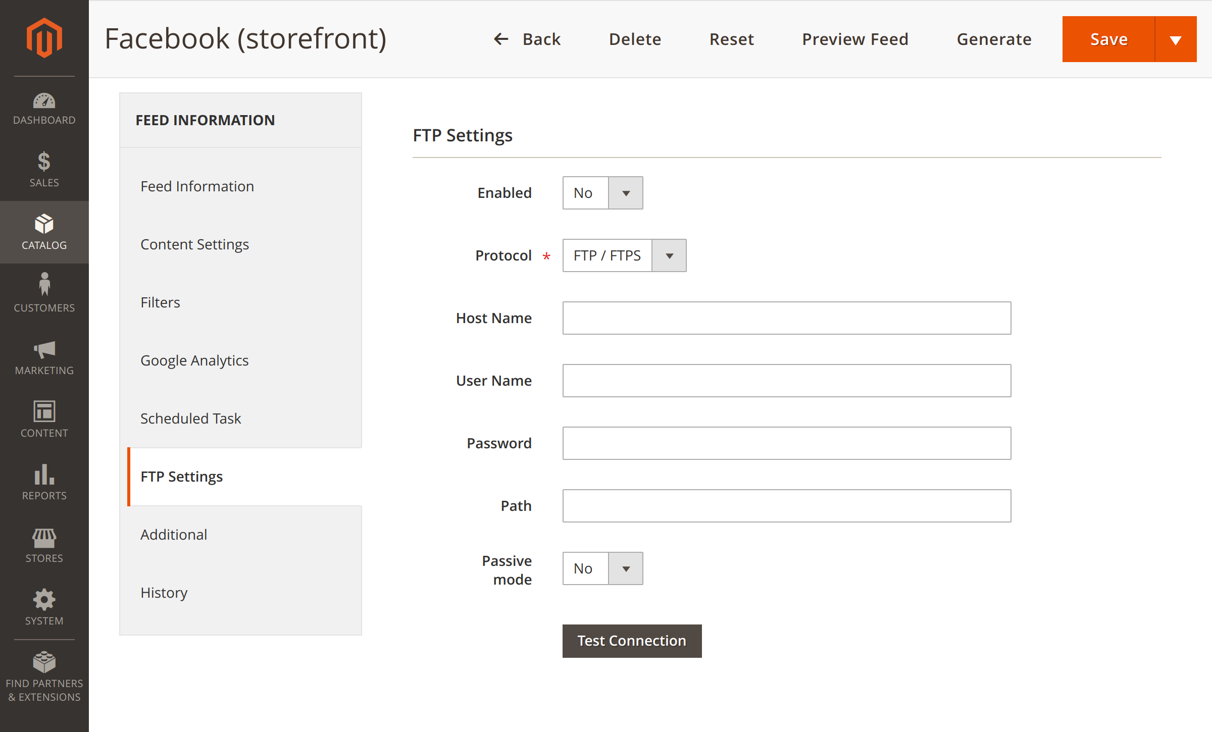 Feed delivery via FTP in Magento 2 Instagram Feed